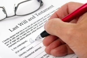 Person preparing a will