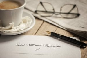 Last will and coffee cup
