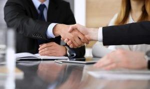lawyer shaking hand